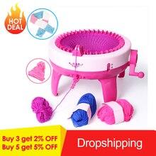 40 agujas de gran tamaño de tejer telar tejer niños DIY bufanda mano tejer máquina de juguete para niños educativo herramienta para tejer