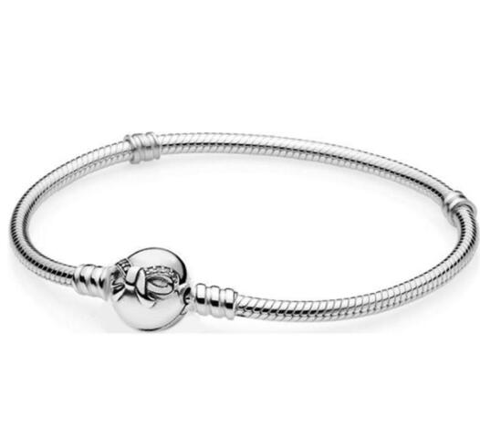Authentic 925 Sterling Silver Dainty Bow Clasp Crystal Snake Chain Pandora Bracelet Fit Women Bead Charm Diy Europe JewelryAuthentic 925 Sterling Silver Dainty Bow Clasp Crystal Snake Chain Pandora Bracelet Fit Women Bead Charm Diy Europe Jewelry