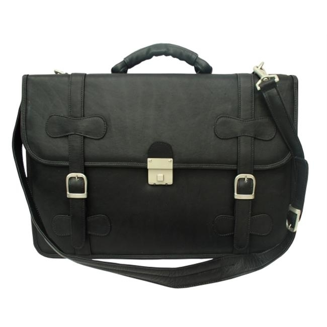 Piel 2007-BLK Black Xxl Flap-over Portfolio canis black xxl