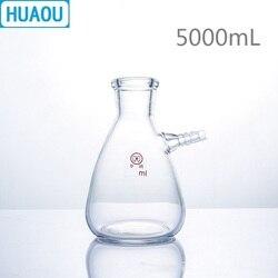 HUAOU 5000mL kolba filtrująca 5L z górną tubulaturą ze szkła borokrzemianowego 3.3