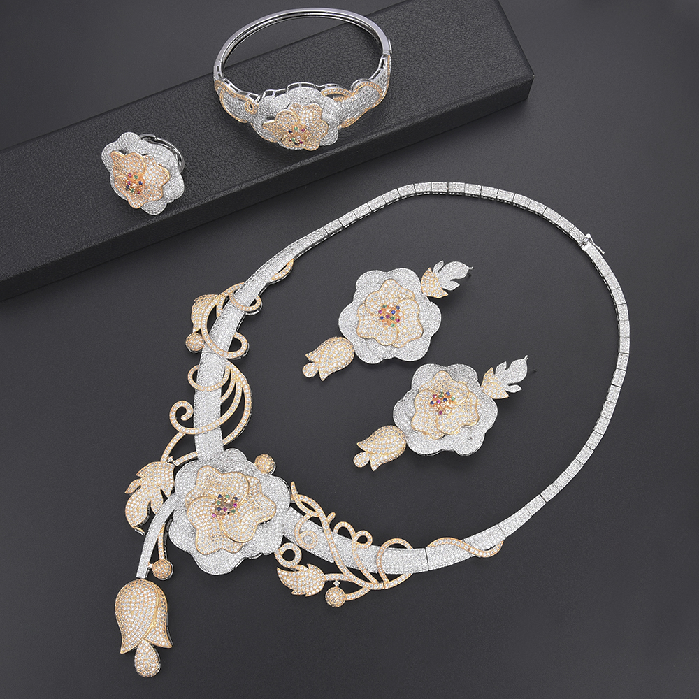 missvikki Hot Noble Special Super Trendy Jewelry Set for Russia Bridal Wedding Engagement Anniversary Dance Party Jewelry
