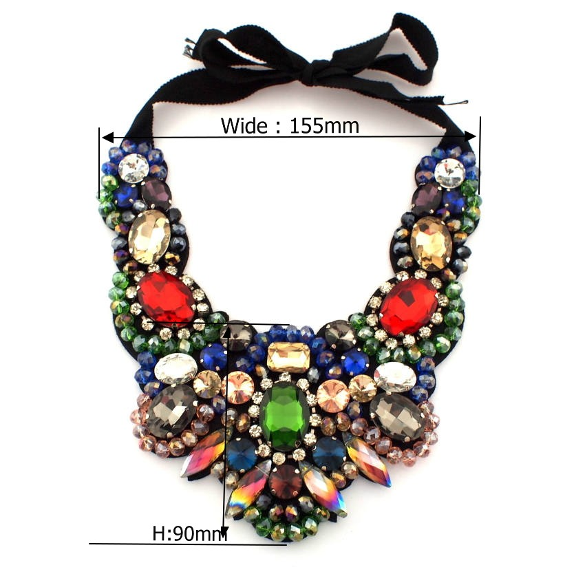 586c532aedb7 Women Luxury Big Necklace Beautiful Ornament Colorful Crystal ...