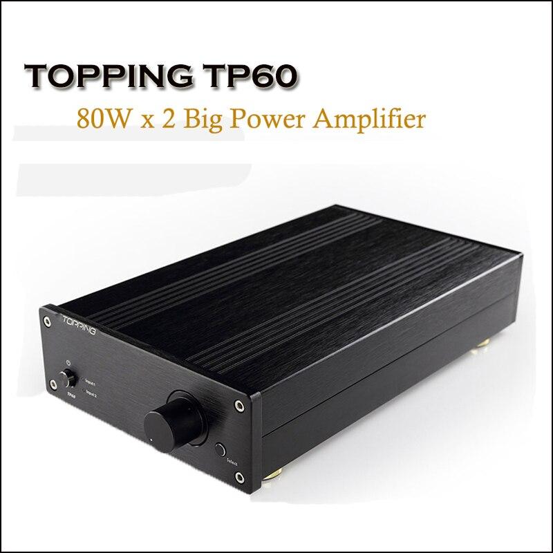 TOPPING TP60 Casa di Classe T Amplificatore di Potenza Audio Amp TA2002 Hi Fi Amplificatori 80 W Professionale Amplificador