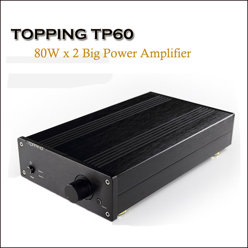 TOPPING TP60 maison classe T amplificateur de puissance amplificateur Audio TA2002 Hi Fi amplificateurs 80W amplificateur professionnel