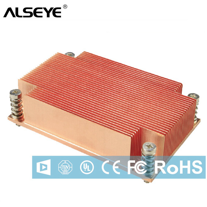 ALSEYE 1U Server CPU Cooler Pure Copper Heatsink Passive Cooling for Sever Computer Processor new cpu cooler processor socket 771 for 1u server