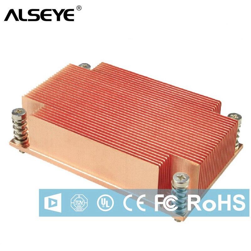 ALSEYE 1U serveur refroidisseur de processeur pur cuivre dissipateur de chaleur refroidissement passif pour couper le processeur d'ordinateur