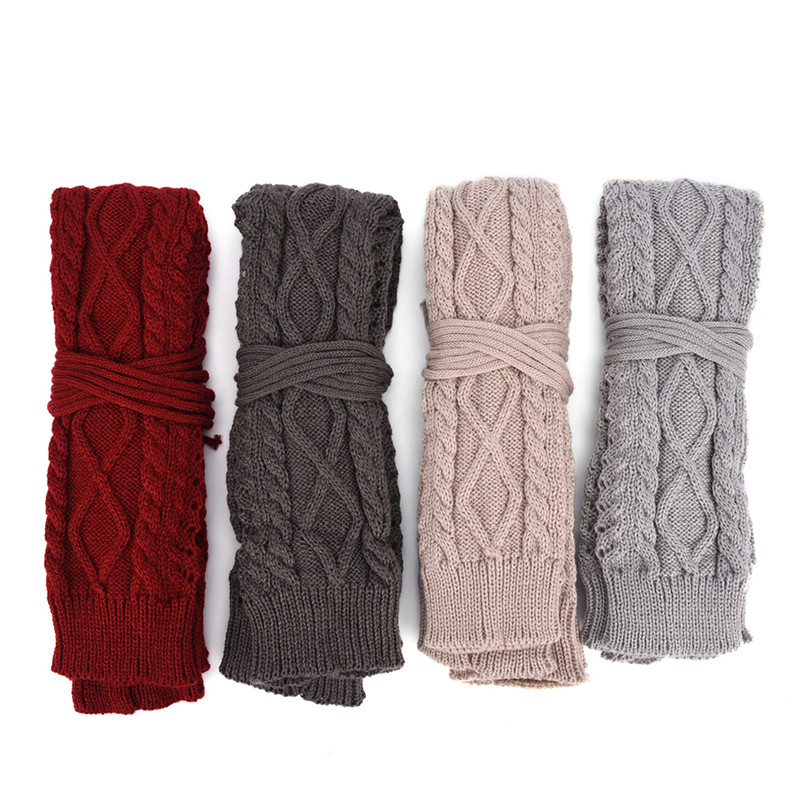 1Pair Women Sexy Warm Thin High Long Knit Stocking Long Boot Thigh-High Leggings Winter Over Knee Socks 55-60CM