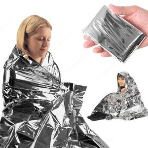 emergent blanket survive thermal tent mylar lifesave first aid kit treatment camp warm heat dry space foil bushcraft outdoor(China)