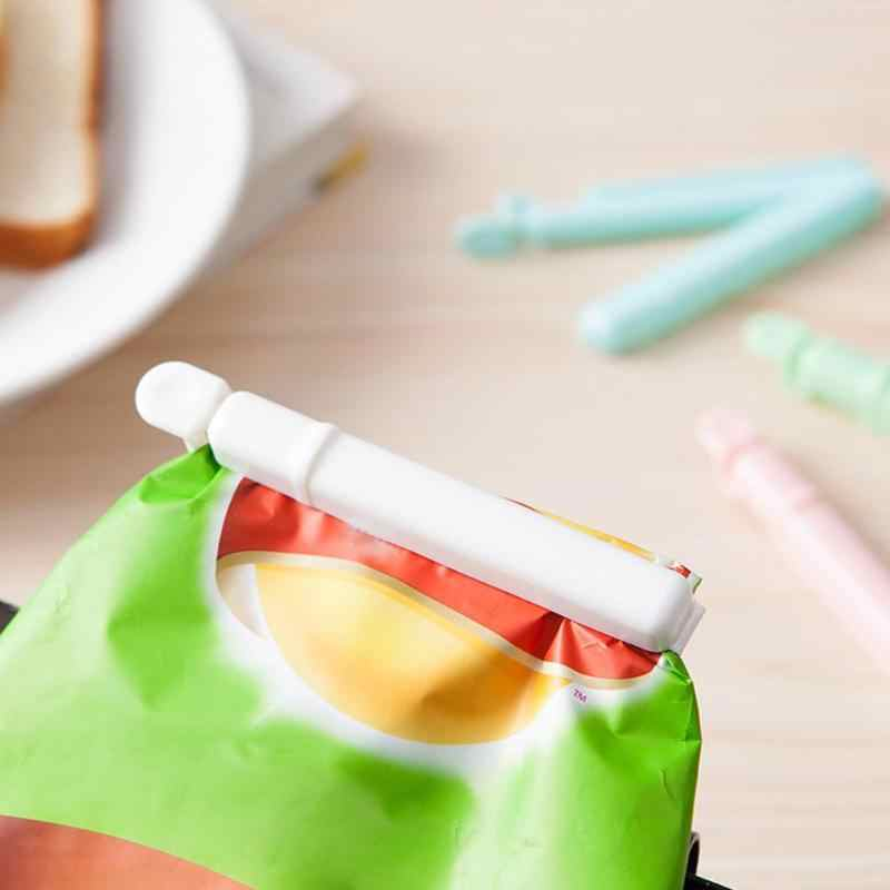 4pcs Suction Cup Food Storage Bag Snack Milk Powder Kitchen Storage Food Snack Seal Sealing Bag Clips Sealer Clamp Plastic Tool