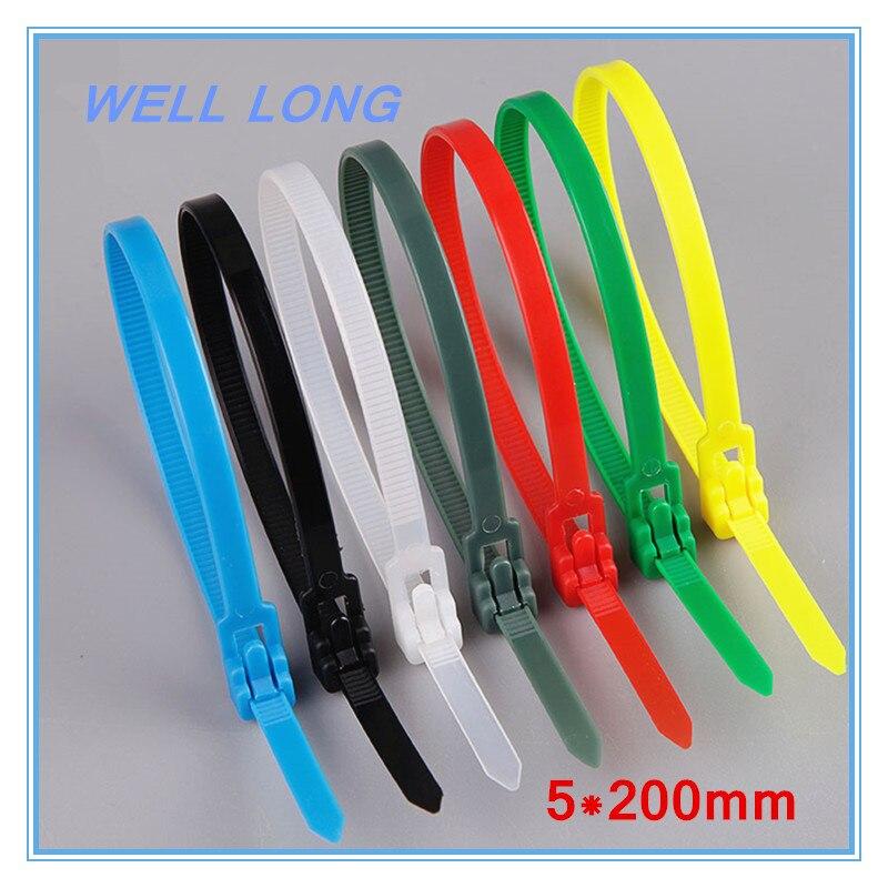 500 abracadeiras de nylon de cor pcs lote 5 200mm
