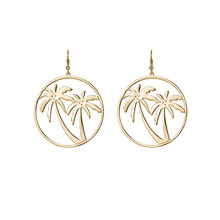 Europe and the United States exaggerate the coconut palm leaves the circle earrings talent restoring ancient ways round earrings цена 2017