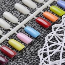 5 Sheets Flatback Color Card Plastic False Nail Tips Practical Nail Art Practice Display Tools
