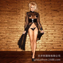 Women Faux Leather Latex Sexy Underwear Erotic Lingerie Perspective Babydoll Nuisette Lenceria Costumes Porn Teddy 1073 L02