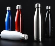 2018 New Double-layer vacuum stainless steel Coke bottle thermos cup beer creative gift water