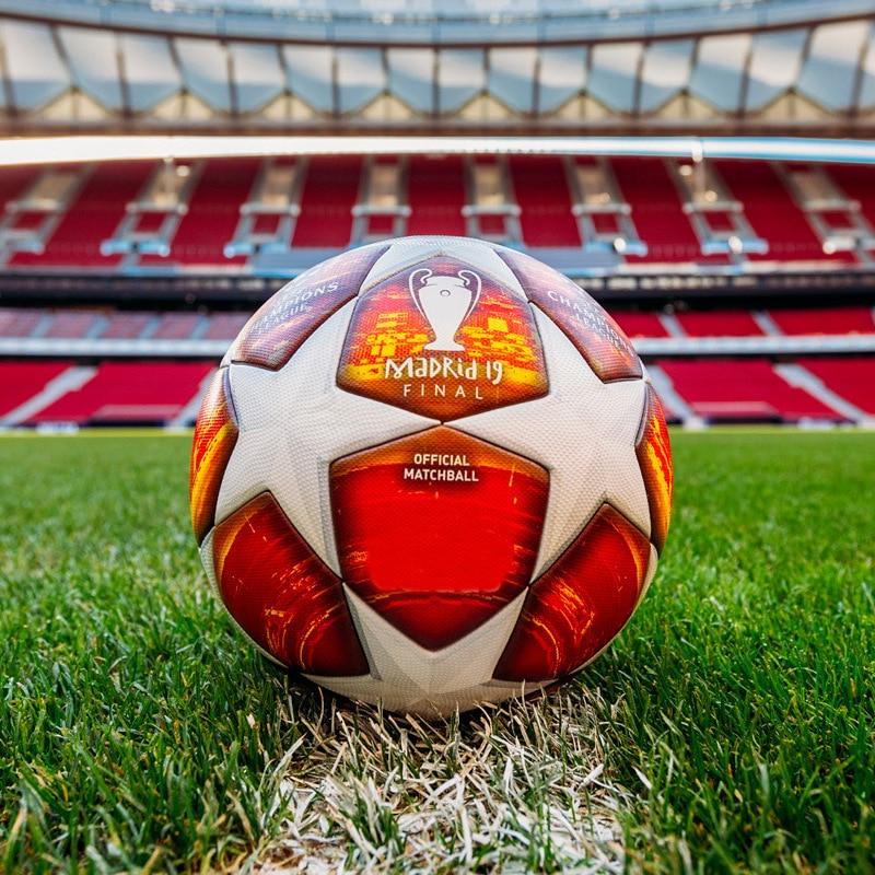 Madrid ligue des Champions Match éliminatoire Football résistant à l'usure Pu 5 Football adulte sans couture ballon de Football but équipe Match formation