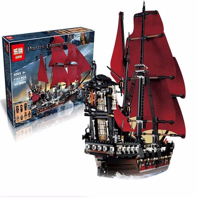 ФОТО nova 16009 das 1151 pcs piratas do caribe rainha anne reveage modelo kits de constru minifigure blocos de tijolos brinq ...
