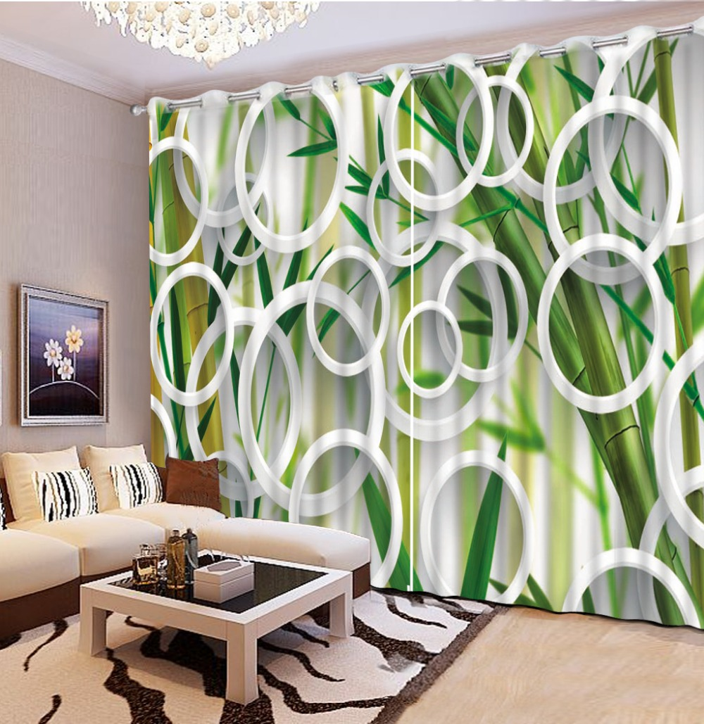 Us 177 0 Custom 3d Curtains Creative Circle Green Curtains Window Curtains For Living Room Luxurious Modern Bedroom Curtains In Curtains From Home