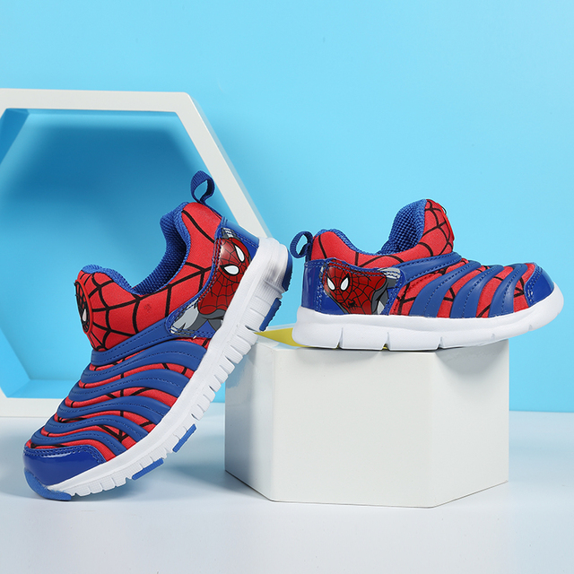 2019 Spring Spiderman Children Shoes For Boys Sneakers Girls Sport Child Casual Light Breathable Baby Boys Flats Kids Shoes 3