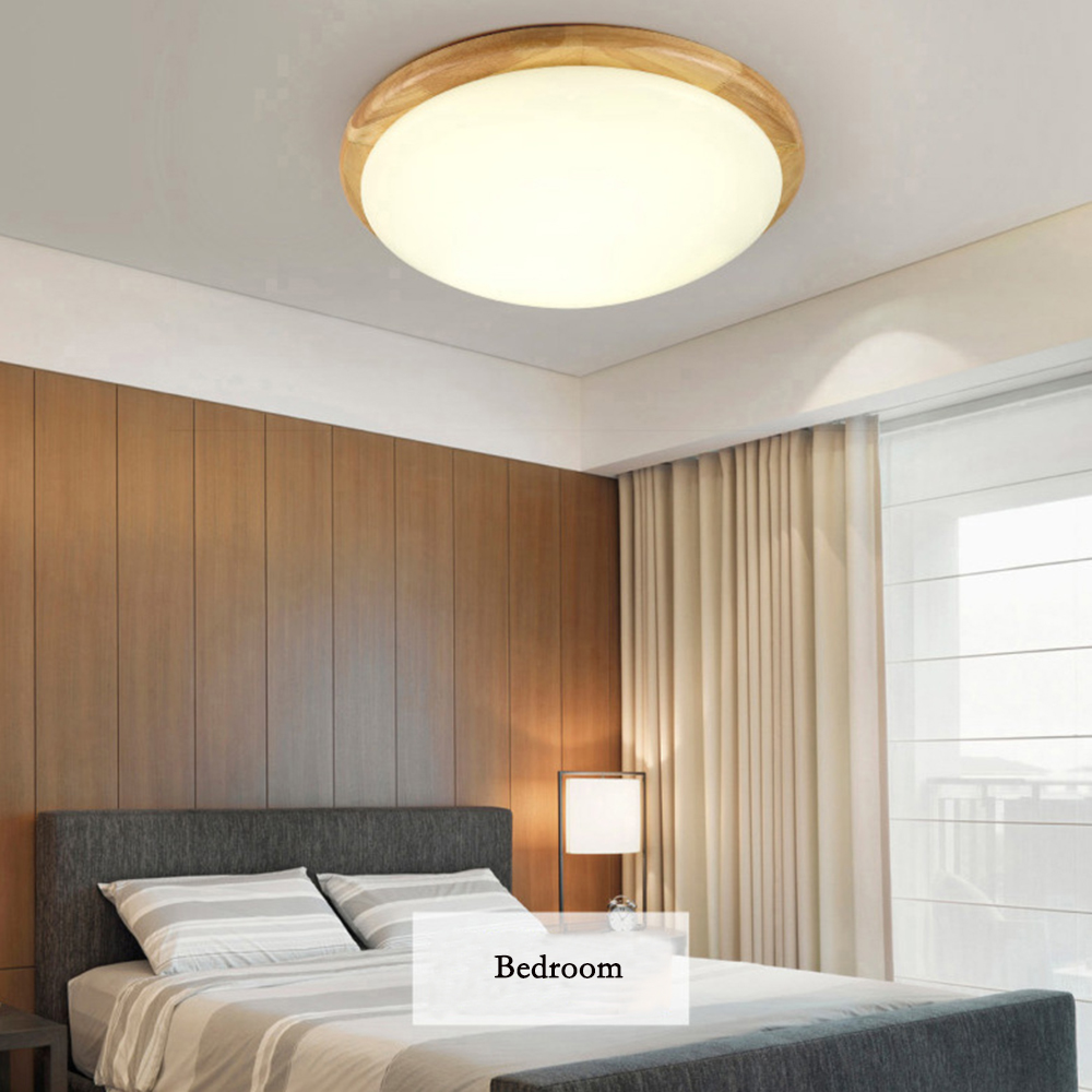 Modern Led Ceiling Lights Lamp Hanging Loft Led Ceiling Lamp Wood with White Acrylic Shade for Living Room Home Bedroom 110/220V vemma acrylic minimalist modern led ceiling lamps kitchen bathroom bedroom balcony corridor lamp lighting study