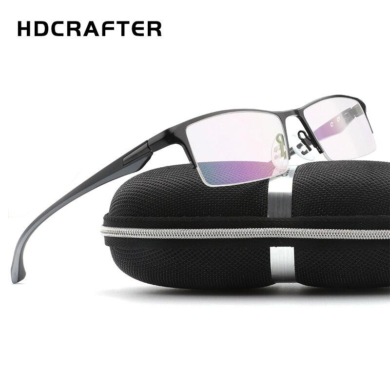 HDCRAFTER TR90 glasses frame Titanium Radiation Protection HD Eyeglasses Frame Computer Glasses Men UV400 Goggle Eyewear