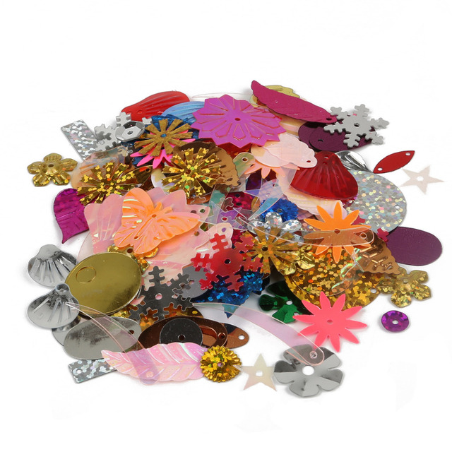 High Quality 50g Lot Random Mixed Sequins Handicrafts Sewing