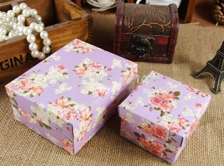 50pcs/lot large full flower Favour Gift Candy Boxes holiday supplies wedding invitations party supplies10.5*8*4.5cm