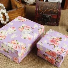 50pcs/lot large full flower Favour Gift Candy Boxes holiday supplies