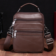 BAQI Brand Men Handbags Genuine Leather Cow Leather Men Messenger Shoulder Bag 2019 Fashion High Quality Casual Ipad Phone Bag