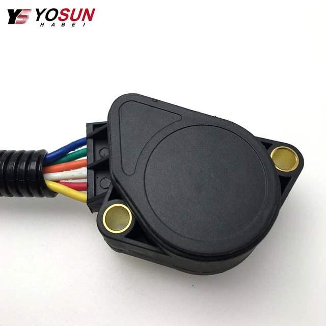 US $28 0  Accelerator Pedal Sensor Throttle Position Sensor 21915486 For  Volvo FH12 FM12 FH16 6 Wine Grey Truck Sensor 20893518 -in Throttle  Position