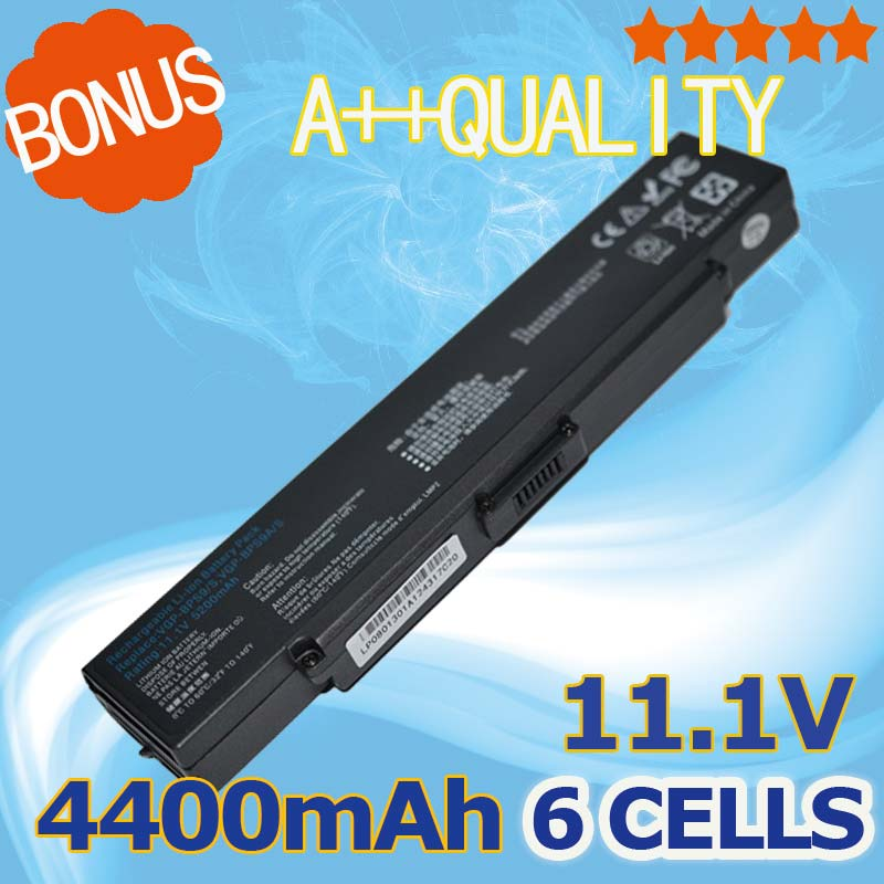 6 CELL 4400mAh laptop battery For Sony VAIO VGP-BPL9 VGP-BPS10 VGP-BPS9/S VGP-BPS9A/S VGP-BPL9C VGP-BPS9/B VGP-BPS9A/B