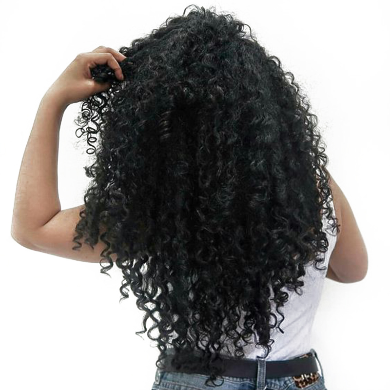 Sunny Queen Remy Curly Wigs 16″-24″ Nature Color Brazilian Lace Front Human Hair Wigs 250% Density Frontal Lace Wig