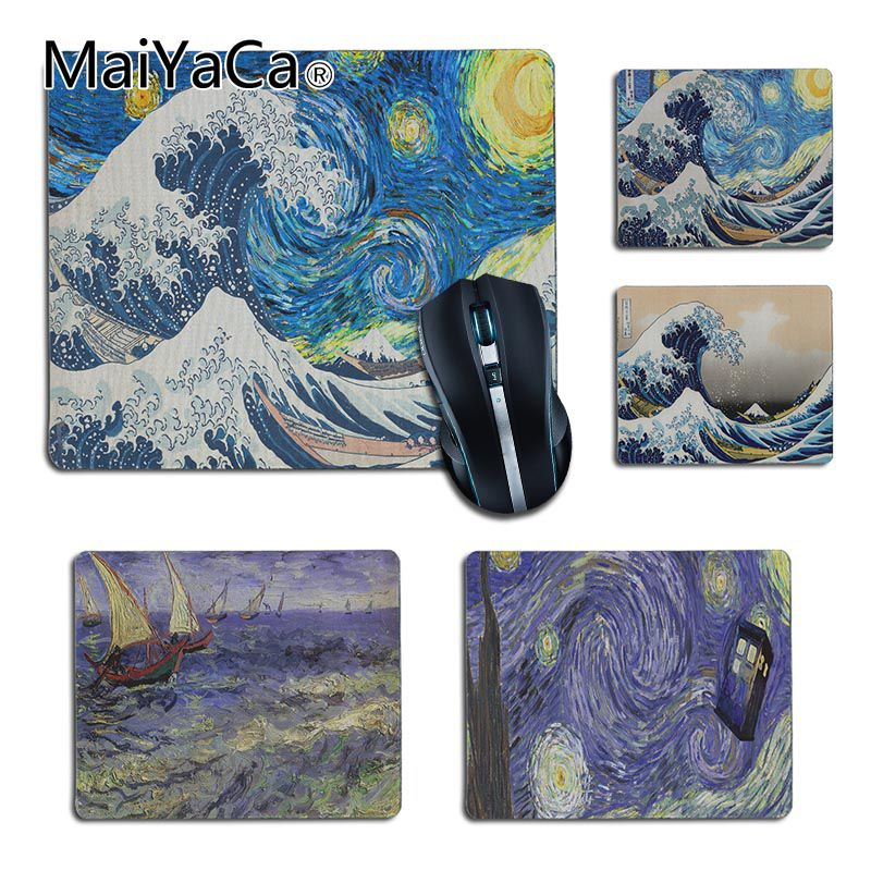 MaiYaCa Top Quality Japan Wave Art Painting Pad Mouse Gaming Mouse Pad DIY Design Gaming Mouse Pad Rug For PC Laptop Notebook