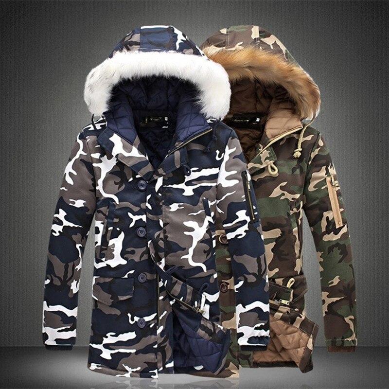 Image 3 - Зимняя мужская куртка, хит продаж 2019, камуфляжная армейская Толстая теплая куртка, Мужская парка, Мужская модная парка с капюшоном, Мужская M 4XL размера плюс-in Парки from Мужская одежда