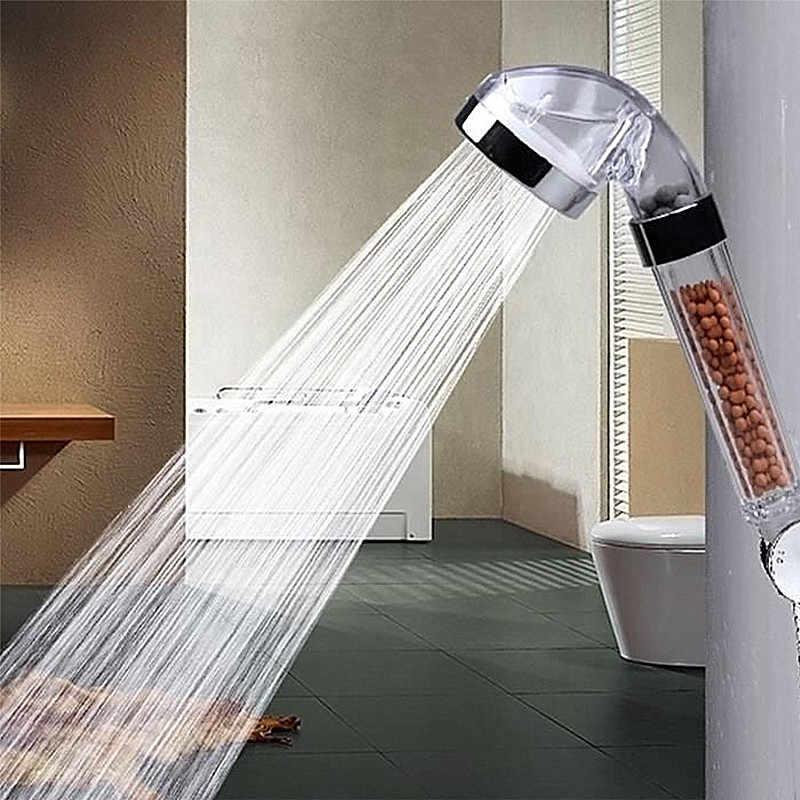 Anpro водотерапия спа Душ Ванна фильтр высокого давления экономии воды дождевой насадка для душа с отрицательными ионными активированными шариками