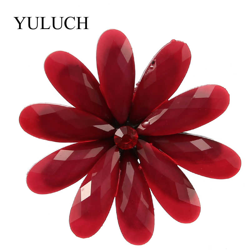 YULUCH 2018 Baru 6 Warna Resin Bros Bunga bros Wanita Fashion Jewelry Heandmade besar Bros