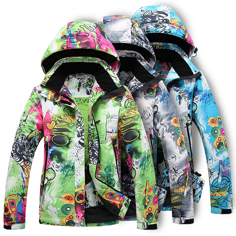 HOT Women 2016 skiing clothing lovers Camouflage outdoor jacket thermal thickening waterproof ski suit - The first station of sports store