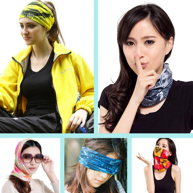Environmental Microfiber Cotton And Polyester Bandana Fabric Multifunctional Seamless Wear Headband Motorcycle Head Scarf Hijab