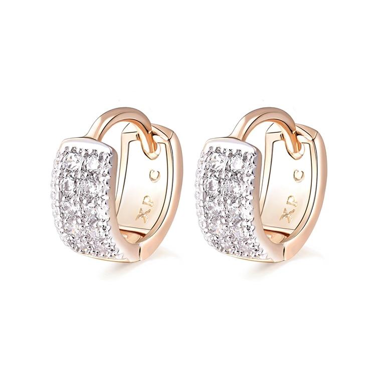 Aliexpress Sale Heart Zircon Earrings For Children Gold Color Baby ...