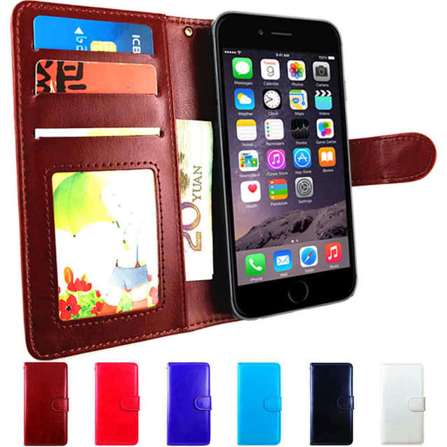 quality design 7c2a5 736fe US $3.61 20% OFF|Leather Wallet Case For iPhone 7 7 Plus Luxury Case  Magnetic Cover for iphone7 7plus Bag Black White Brown Blue Purple Hot  Pink-in ...