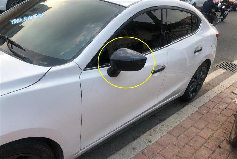 Lapetus For Mazda 3 AXELA Hatchback Sedan 2014   2018 ABS Car Styling Side Door Rearview Mirror Frame Cover Trim 2 Pcs / Set Chromium Styling     - title=