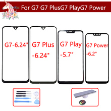 10pcs/ For Motorola Moto G7 Plus Play Power Touch Screen Front Outer Glass Panel Lens LCD Touchscreen