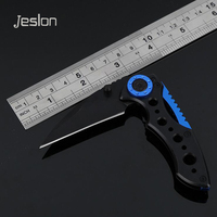 Jeslon D21 Portable Folding Blade Knife Hunting Camping Survival Tactical Rescue Pocket Knives MultiFunction Outdoor EDC