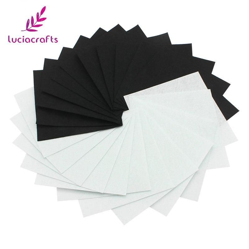 Lucia ремесла белый/черный 30×30 см/20×20 см Нетканые Войлок Ткань ручной швейной DIY Записки аксессуары 6 шт./лот 081001007