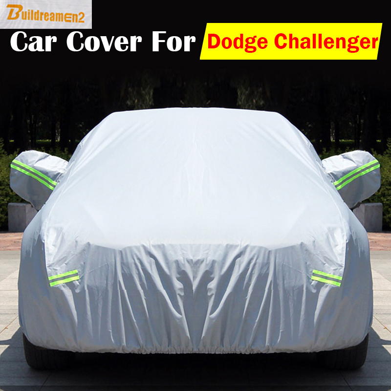 Buildreamen2 Outdoor Car Cover Anti-UV Scratch Sun Rain Snow Dust Resistant Cover Waterproof For Dodge Challenger High Quality ! buildreamen2 new car cover auto sun shield anti uv rain snow protector cover waterproof for peugeot 1007 2008 207 307 4008 405