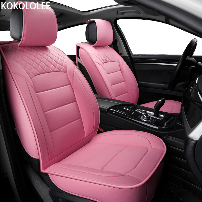 [kokololee] pu Leather Car seat covers For Honda renault megane 2 scenic 2 lifan x60 hyundai creta bmw e34 granta car-styling kokololee pu leather car seat cover for toyota rav4 hyundai creta fiat linea 500x vw polo audi a3 8l car styling car accessories