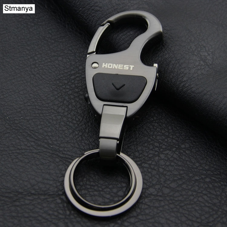 New Brand Men Women Car Key Chain Top High-grade multi-functional waist hanging Metal Keychain Key Holder Car Key Ring K1187