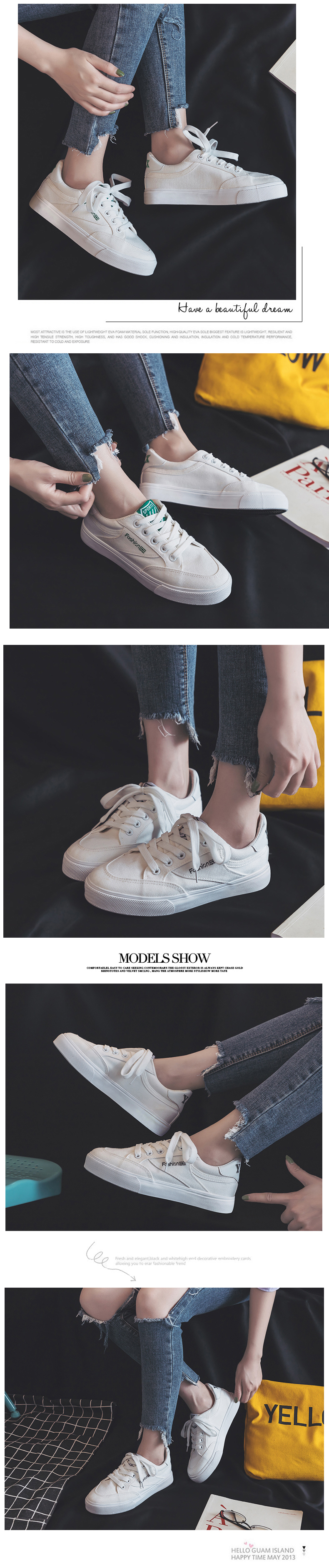 Fashion Style Women Canvas Vulcanized Shoes Simple Design Anti-Skid Sneakers for Female Comfortable Wear Resistant Casual Shoes 15