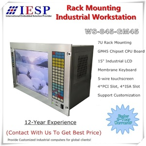 """Image 1 - 19"""" 7U Rack Mount Industrial Computer, 15"""" LCD, with touchscreen, Core P7550 CPU ,GM45 chipset, 4GB RAM, 500GB HDD"""