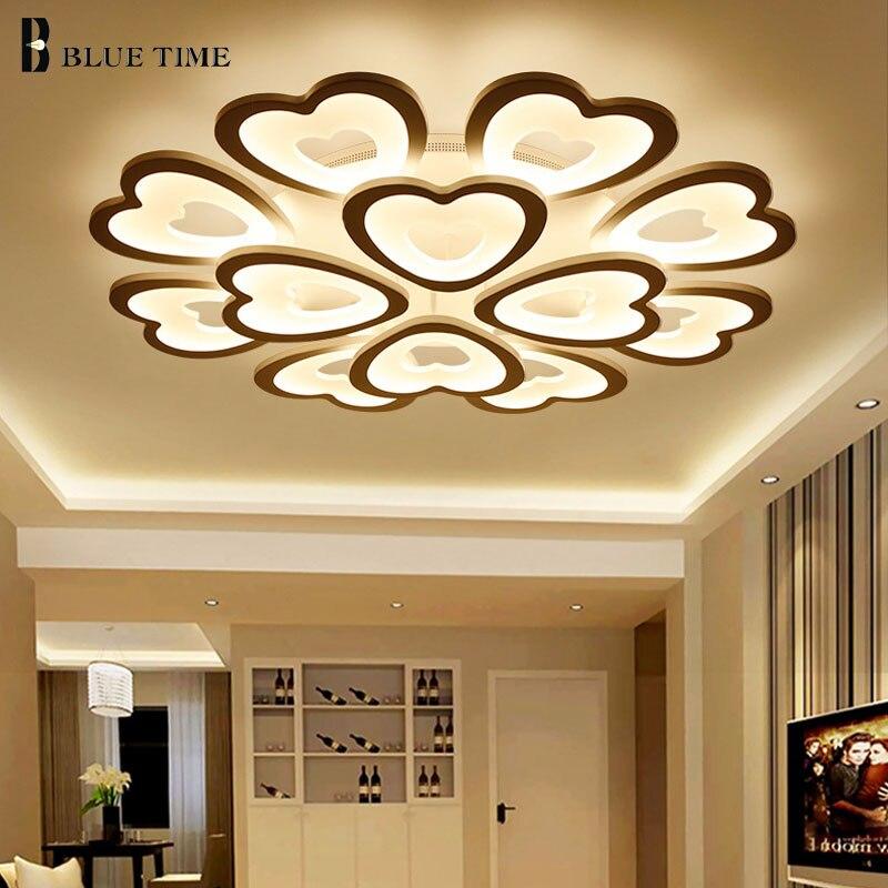 Latest White Acrylic Modern Led Chandelier love heart shape For Living Room Bedroom Dinning Room Chandelier