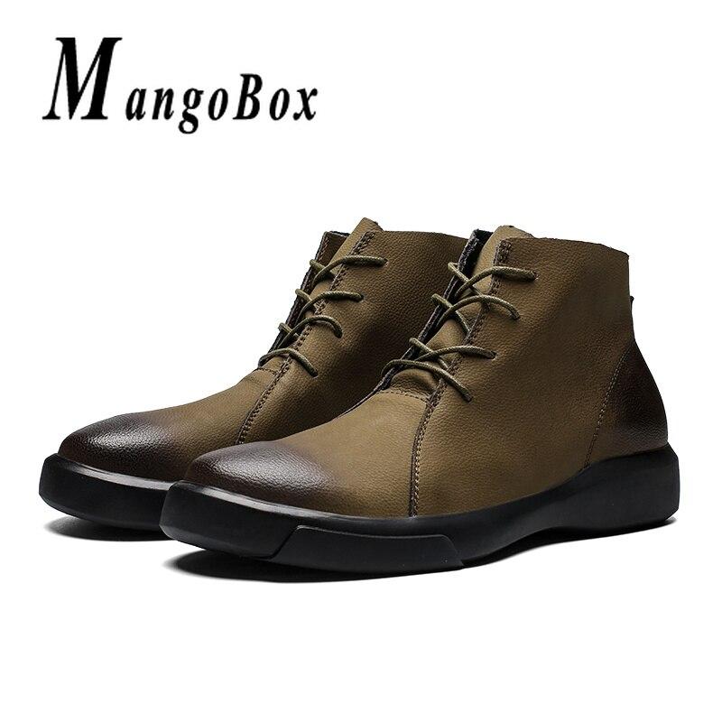 Bottes Taille Khaki Martens Kaki Printemps Mens Automne Hommes Noir 38 Top Cheville Pour Homme High 47 black Mode Grande Chaussures EqBfAwdf